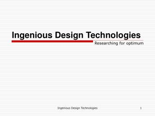 Ingenious Design Technologies