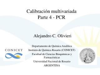 Calibración multivariada Parte 4 - PCR