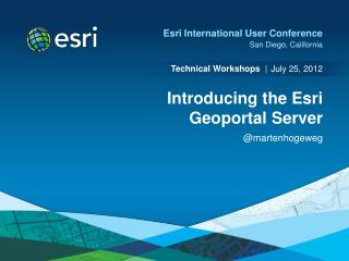 Introducing the Esri Geoportal Server