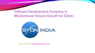 Software Development Company in Bhubaneswar Ensures Growth f