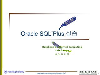 Oracle SQL * Plus  ??