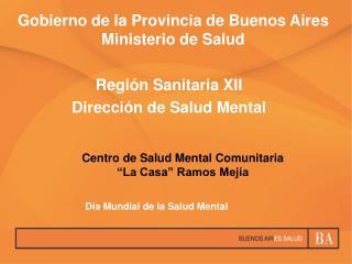 Gobierno de la Provincia de Buenos Aires Ministerio de Salud