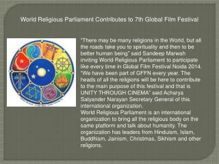 World Religious Parliament Contributes to 7th Global Film Fe