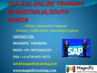 Sap grc online training in australia,south africa