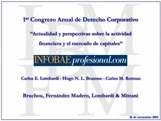 1 er  Congreso Anual de Derecho Corporativo