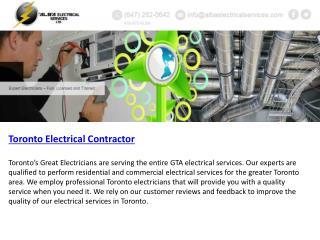 Residential Electricians Toronto |Toronto Electrical Contrac