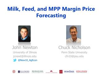 Milk , Feed, and MPP Margin Price Forecasting
