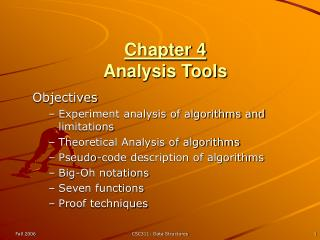 Chapter 4 Analysis Tools