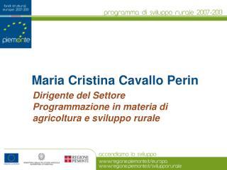 Maria Cristina Cavallo Perin