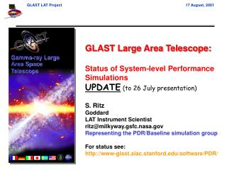 GLAST Large Area Telescope: Status of System-level Performance Simulations