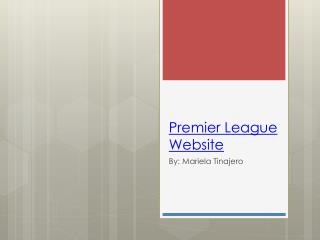 Premier League Website