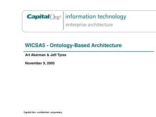 WICSA5 - Ontology-Based Architecture