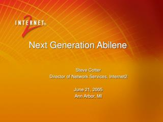 Next Generation Abilene
