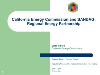 California Energy Commission and SANDAG:  Regional Energy Partnership