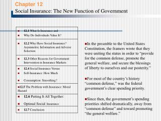 12.5  The Problem with Insurance: Moral Hazard