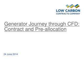 Generator Journey  through  CFD: Contract and Pre-allocation
