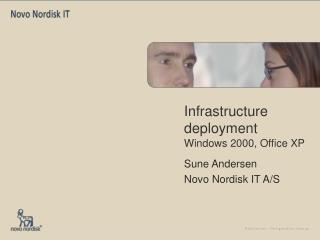 Infrastructure deployment Windows 2000, Office XP
