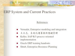 ERP System and Current Practices