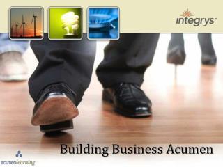 Building Business Acumen