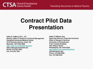 Contract Pilot Data Presentation