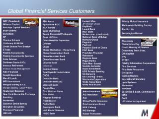 Global Financial Services Customers