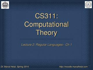 CS311: Computational Theory