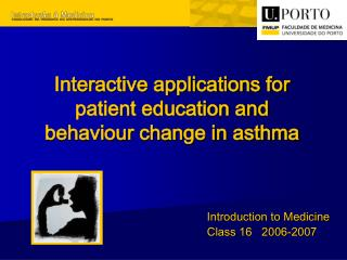 Interactive applications for patient education and behaviour change in asthma