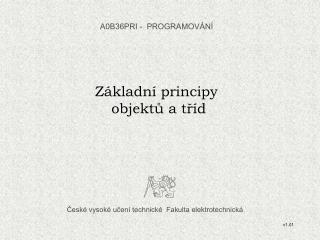 České vysoké učení technické  Fakulta elektrotechnická