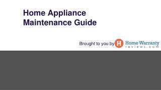 Regular Home Appliance Maintenance Tips