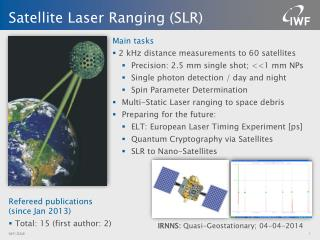 Satellite Laser Ranging (SLR)