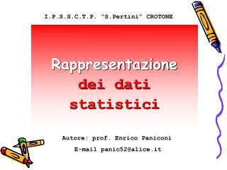 Rappresentazione dei dati  statistici