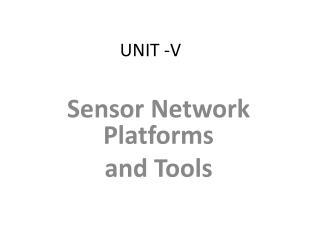 UNIT -V