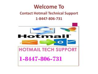 Contact Hotmail Technical Support 1-8447-806-731