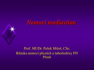 Nemoci mediastina