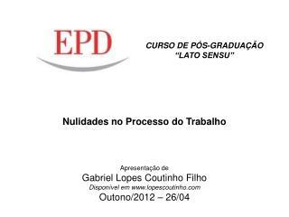 CURSO DE P�S-GRADUA��O  �LATO SENSU�