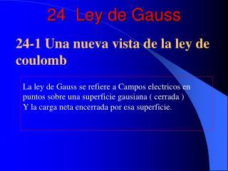 24  Ley de Gauss