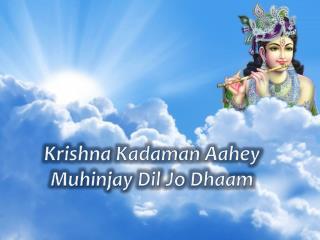 Krishna  Kadaman Aahey Muhinjay Dil  Jo  Dhaam