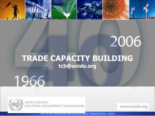 TRADE CAPACITY BUILDING tcb@unido