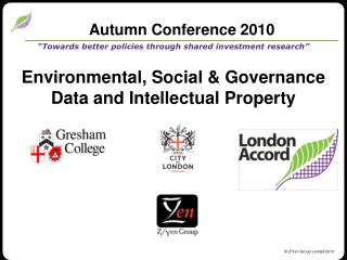 Autumn Conference 2010