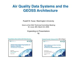 Air Quality Data Systems and the GEOSS Architecture