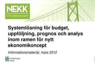 Informationsmaterial, mars 2012
