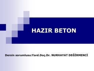 HAZIR BETON