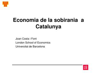 Economia de la sobirania  a Catalunya