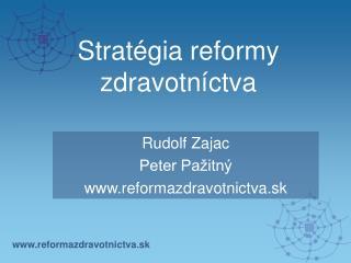 Stratégia reformy zdravotníctva
