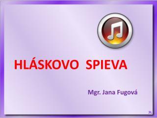 Mgr. Jana Fugová