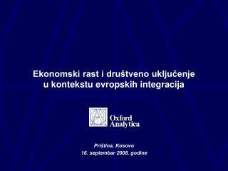 Ekonomski rast i društveno uključenje  u kontekstu evropskih integracija
