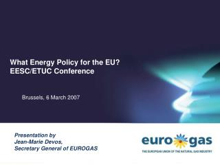What Energy Policy for the EU? EESC/ETUC Conference