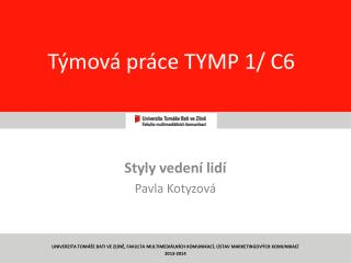 T�mov� pr�ce TYMP 1/ C6