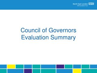 Council of Governors Evaluation Summary