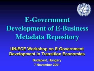 E-Government Development of E-Business Metadata  Repository